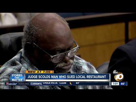 Judge scolds man who sued El Cajon restaurant