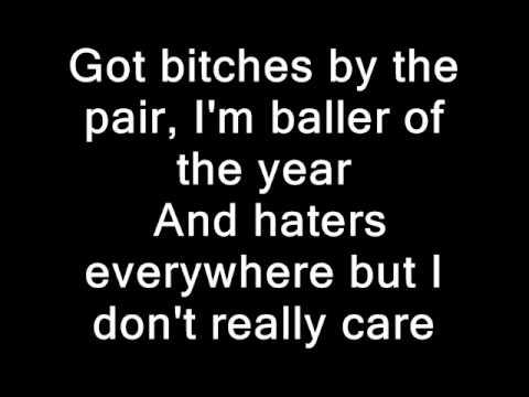 Waka Flocka I Don't Really Care Ft Trey Songz Lyrics on Screen