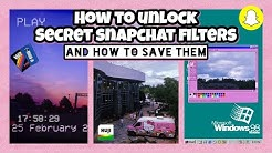 How To Get SECRET Snapchat Filters 2019 ♡ (and how to save them)