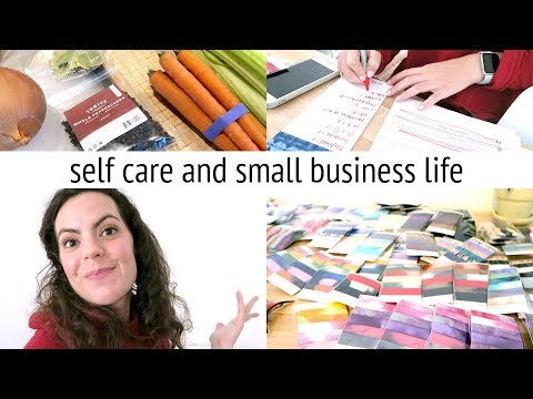 SELF CARE & SMALL BUSINESS LIFE | Filling Black Friday Orders, Stress and Chicken Soup