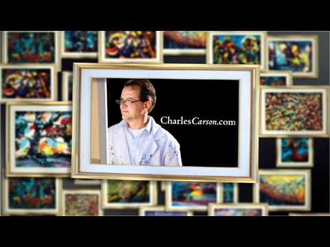 "Charles Carson, Abstract painting demonstration ""Carsonism "" movement..."