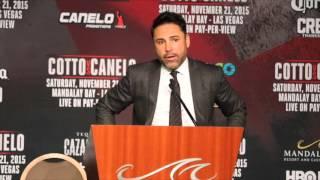 MIGUEL COTTO v SAUL CANELO ALVAREZ UNDERCARD GULLERMO RIGONDEAUX :