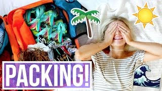 PACK WITH ME FOR A WEEK AT THE BEACH!