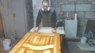 Iwata Bellaria 1.6 Покраска сосновой двери