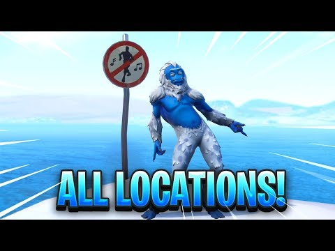 """Dance In Different Forbidden Locations"" FORTNITE MAP LOCATION"