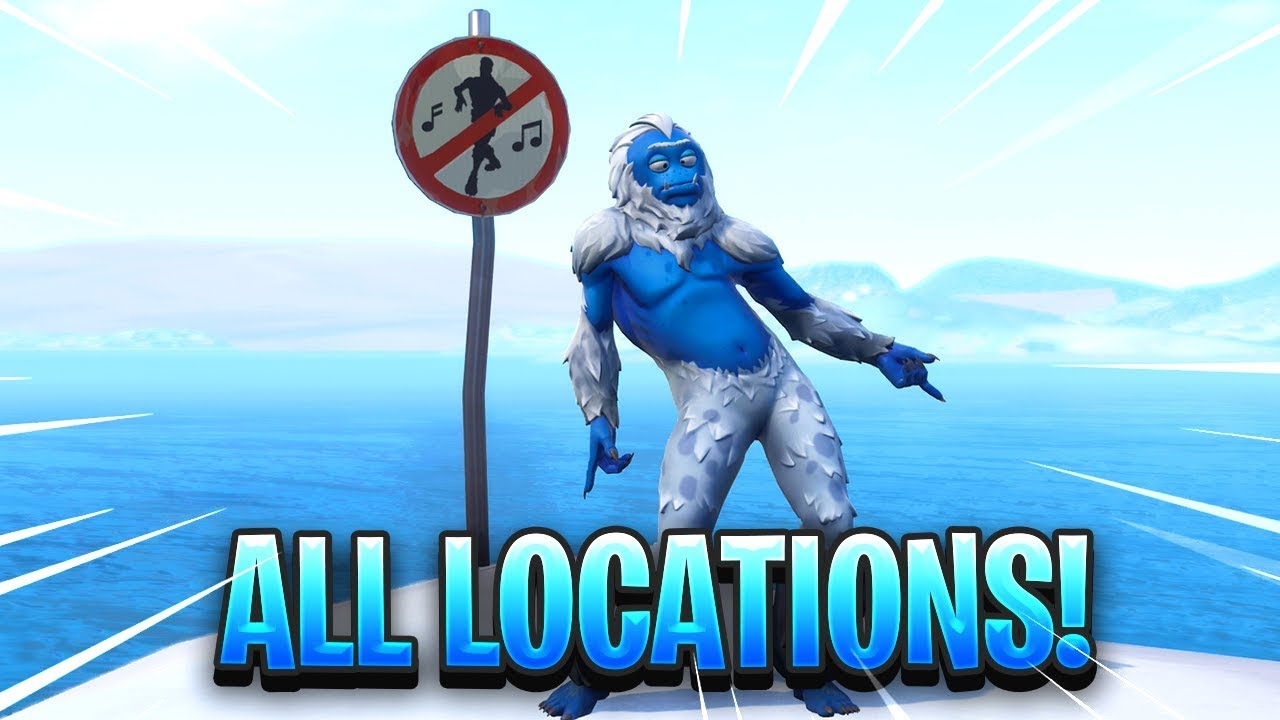 Dance In Different Forbidden Locations Fortnite Map Location Youtube