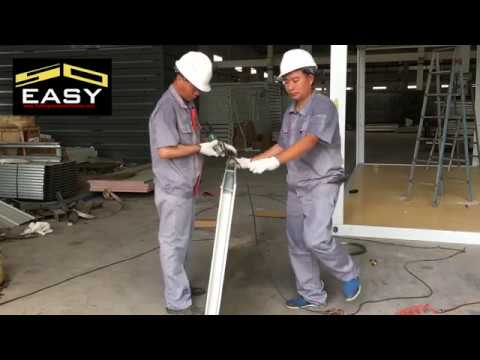 How to easy install Flat Pack Container House