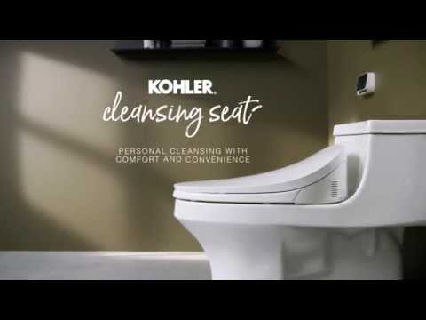 Kohler C3 230 Cleansing Seat With Touchscreen Remote Control Youtube