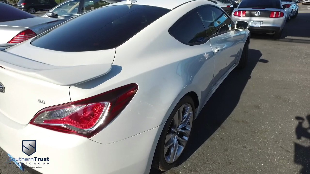 Live video 2013 hyundai genesis coupe 3 8 grand touring auto 100952 5 9 southern trust
