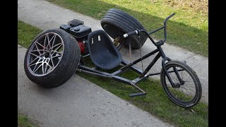 Homemade 200CC BMX Trike With CAR TIRES !? PART 1