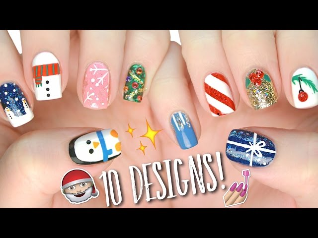 Christmas Nail Art Designs Youtube | Splendid Wedding Company
