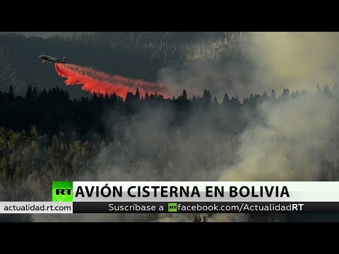 Avión cisterna extingue un foco del incendio de la Amazonia en su primera misión en Bolivia