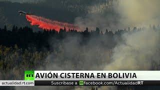 avin cisterna extingue un foco del incendio de la amazonia en su primera misin en bolivia