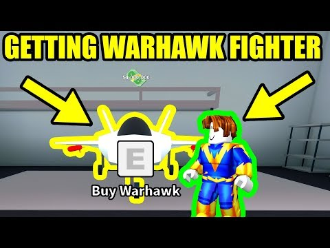 GETTING the WARHAWK FIGHTER JET | Roblox Mad City Update