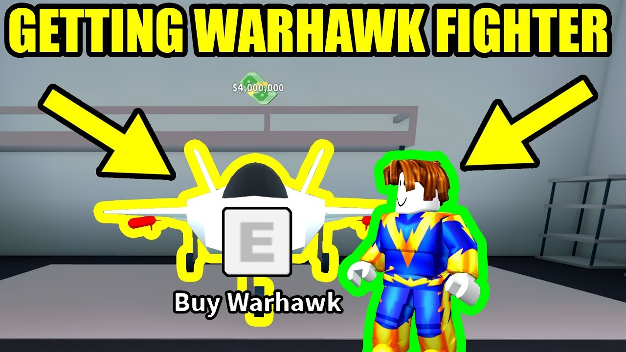 GETTING the WARHAWK FIGHTER JET | Roblox Mad City Update ...