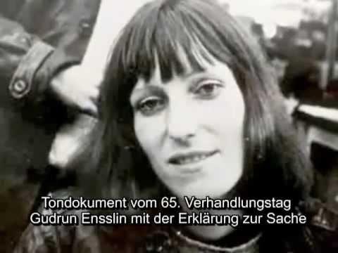 """RAF- Gudrun Ensslin - 41.+ 65. Verhandlungstag - zum Buch """"Die Todesnacht in Stammheim"""""""