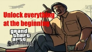 GTA San Andreas - How to unlock everything at the beginning NO MODS