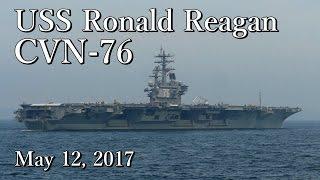 cvn 76 米海軍空母ロナルド レーガン uss ronald reagan in uraga channel may 12 2017