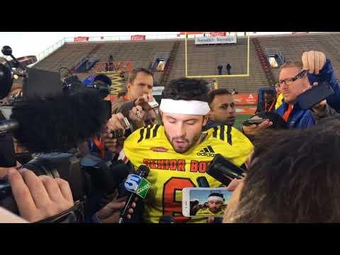 Baker Mayfield addresses media at Senior Bowl