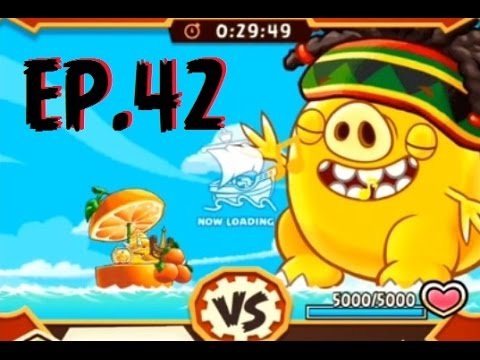 Angry Birds Fight! - SUPER RAGGAE PIG MONSTER - PALADIN PIGGY -  GOLDEN STONEFISH HAT PRIZES-EP42