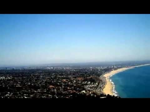 Helicopter view of the Los Angeles basin from the Santa Monica Coast.