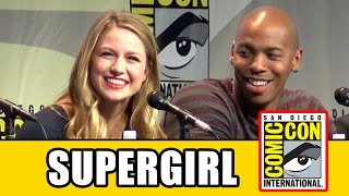 Supergirl Comic Con Panel - Melissa Benoist, Mehcad Brooks, Chyler Leigh, David Harewood