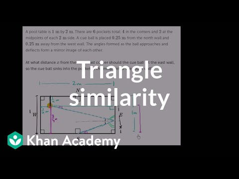 Triangle similarity in pool | Similarity | Geometry | Khan Academy