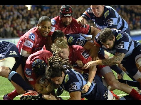 Cardiff Blues v Scarlets Blues Highlights – GUINNESS PRO12 2014/15