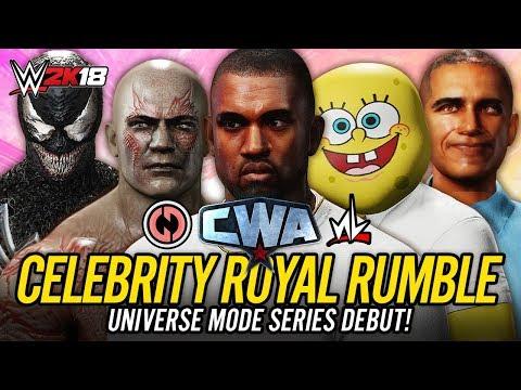 WWE 2K18 Celebrity Universe Mode - 30 MAN CELEBRITY ROYAL RUMBLE!! (CWA Universe Debut!!)