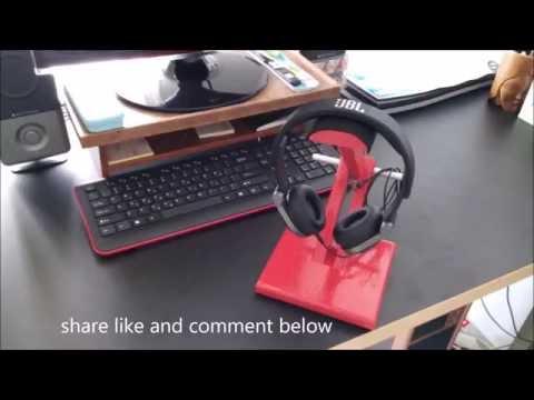 DIY headphone stand simply make it
