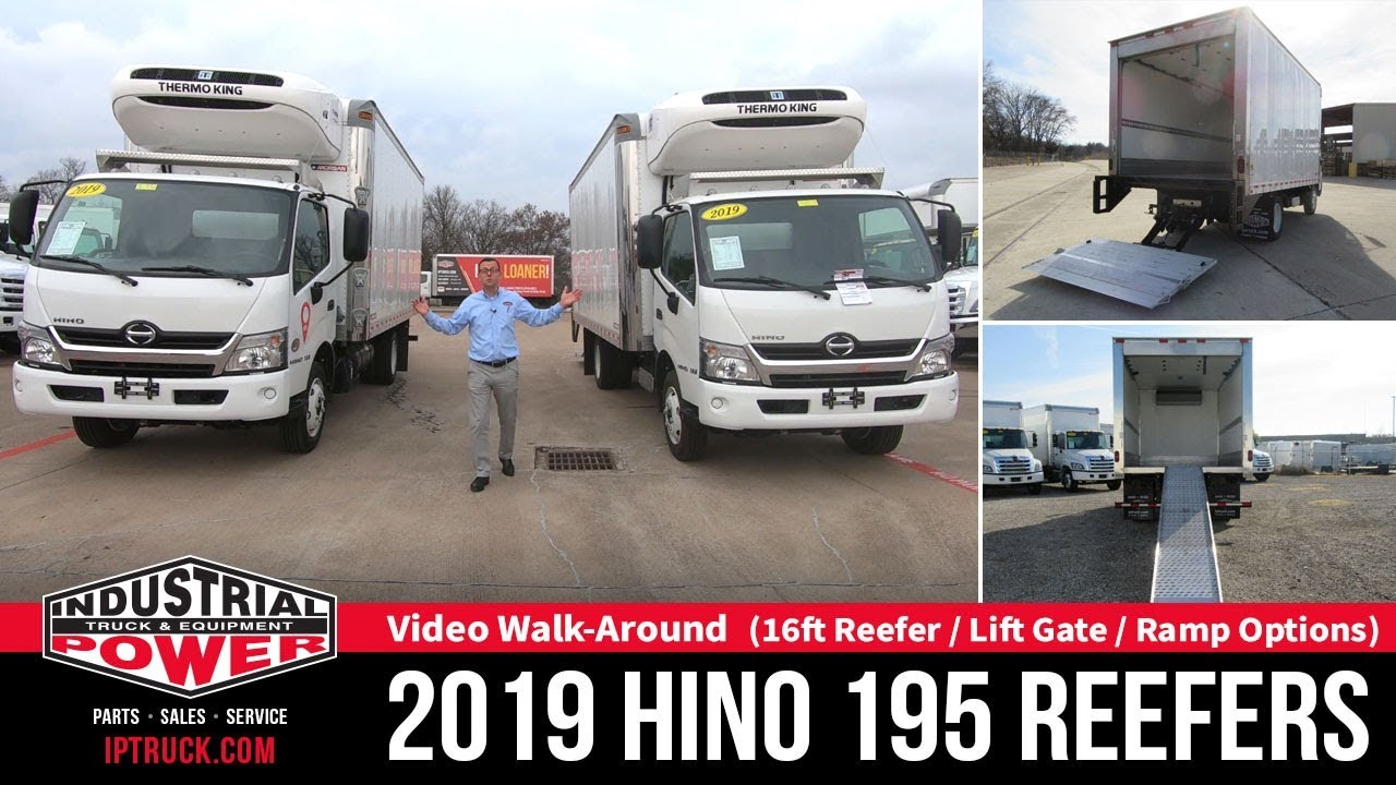 2019 HINO 195 16ft Reefer Truck With Lift Gate and Ramp | Thermoking  Refrigerated Truck Walk Around