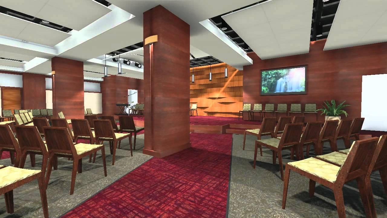 RCCG Restoration Center Interior Design Animation - YouTube