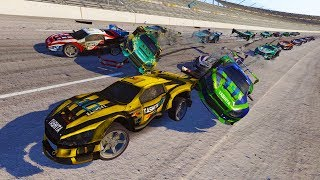 THE FUTURE OF NASCAR?! CARMAGEDDON AT TALLADEGA! - Next Car Game Wreckfest Car Mods