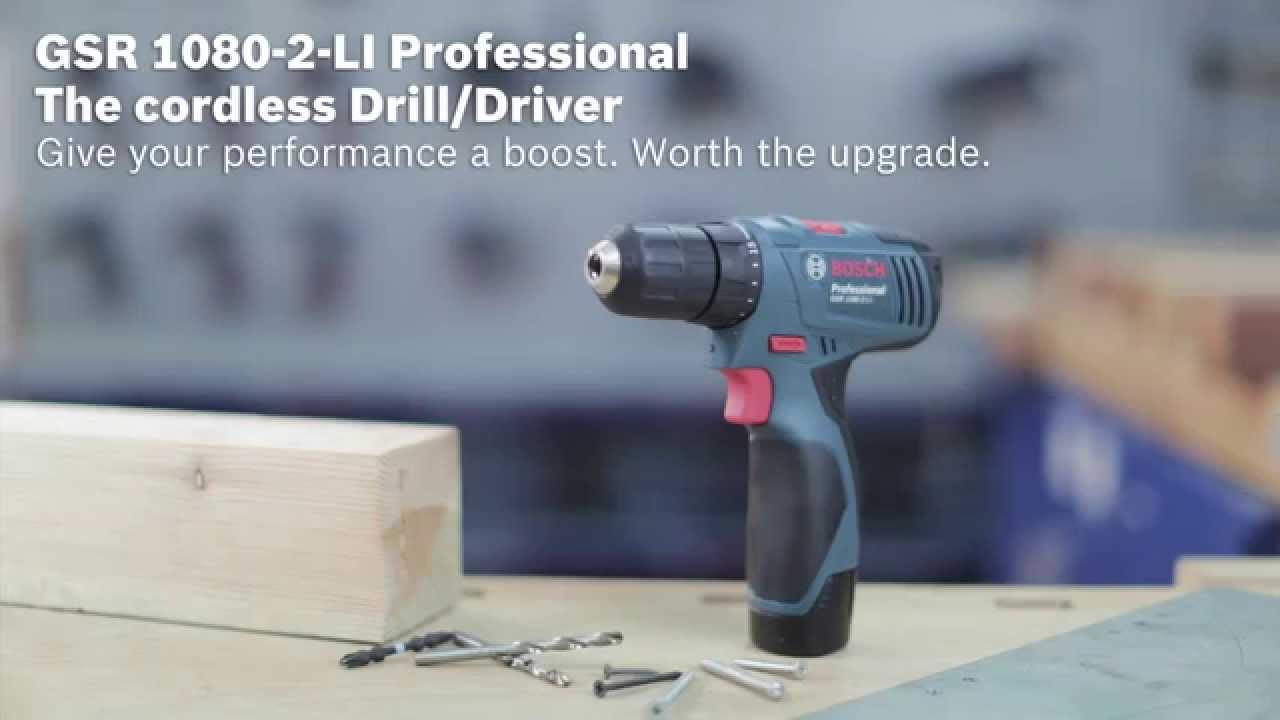 bosch gsr 1080 2 li 10 8v professional cordless drill. Black Bedroom Furniture Sets. Home Design Ideas