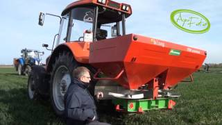Ustawienie szerokości rozsiewacza do nawozu Unia Brzeg 850MX