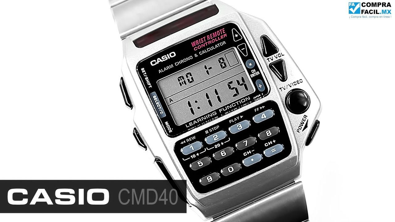 Reloj Casio Retro CMD40 Metal CompraFacil.mx