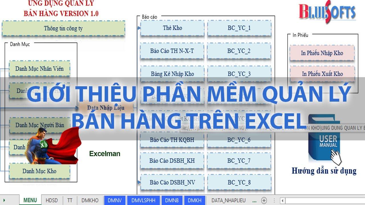 Giới thiệu phần mềm quản lý bán hàng, Nhập xuất tồn tự động miễn phí trên Excel