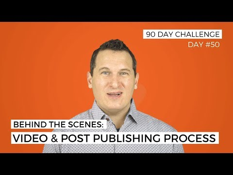 Behind the Scenes: Video and Post Publishing Process