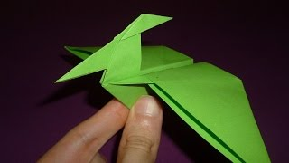 origami dinosaur pterodactyl how to make