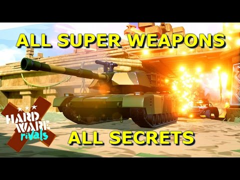 ALL MAPS, SECRETS AND SUPER WEAPONS! Hardware Rivals PS4 [HD]