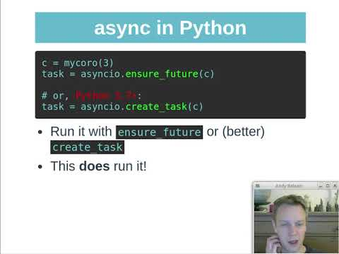 Python Async basics video (100 million HTTP requests)