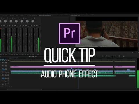 Premiere Pro Quick Tip: Phone Voice Effect