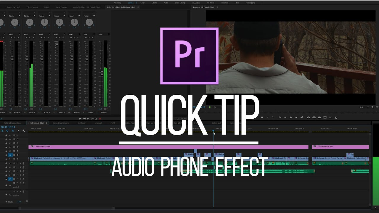 premiere pro quick tip phone voice effect youtube. Black Bedroom Furniture Sets. Home Design Ideas