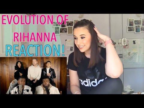 PENTATONIX - EVOLUTION OF RIHANNA REACTION!