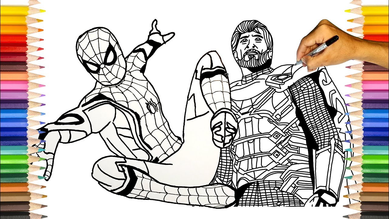 mysterio spiderman coloring pages - photo#21