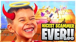 The Worlds Nicest Scammer? (Scammer Get Scammed) Fortnite Save The World