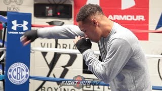 REGIS PROGRAIS SHOWS BLAZING SPEED IN FULL SHADOW BOXING WORKOUT