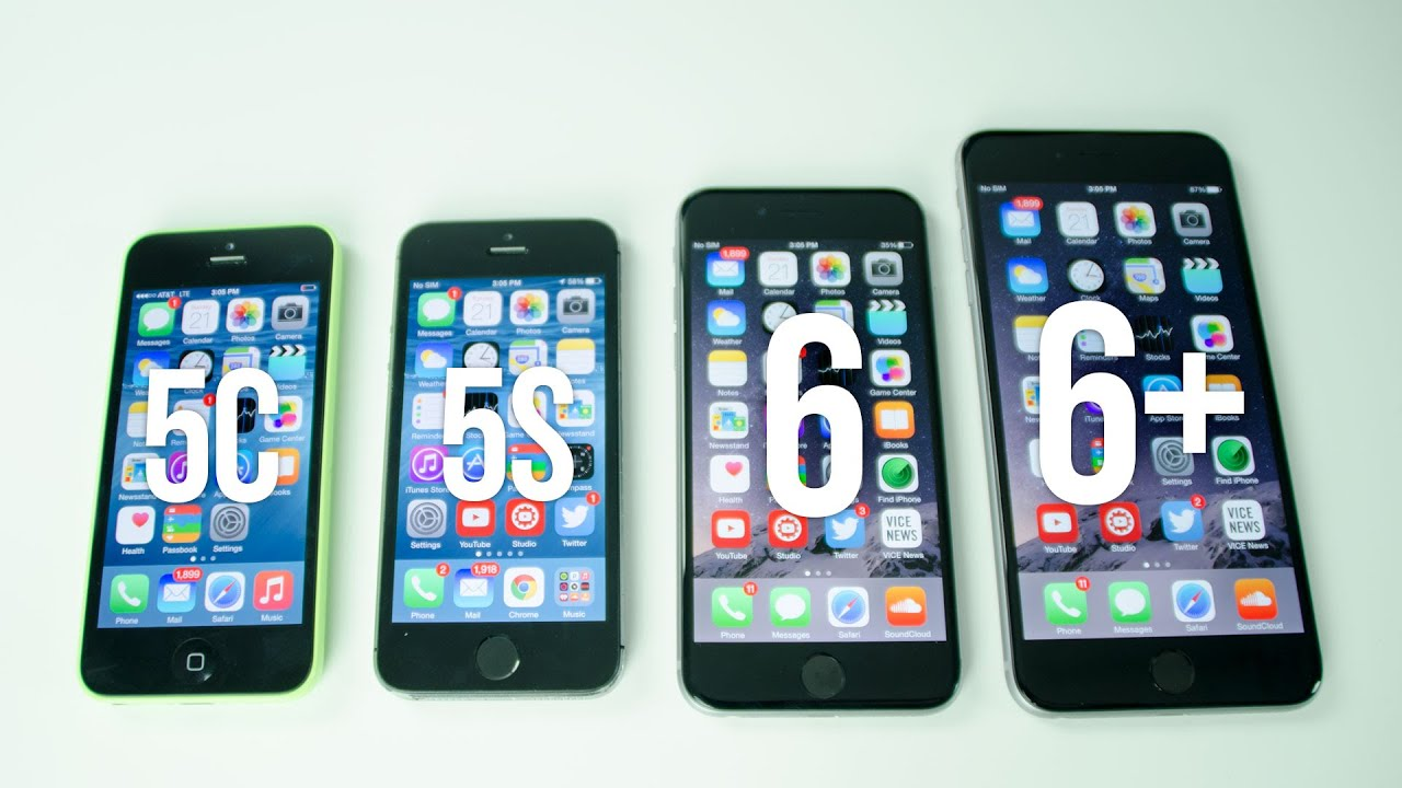 how long is a iphone 5c iphone 6 plus vs iphone 6 vs iphone 5s vs iphone 5c 3529