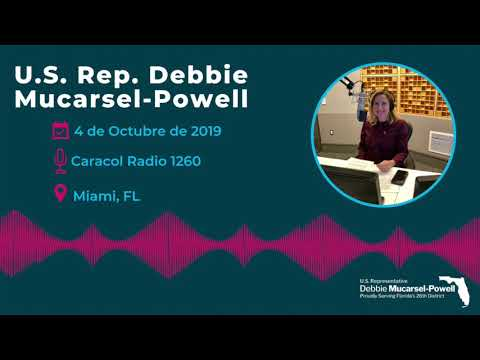 Debbie Mucarsel-Powell talks with Raul Martinez on Caracol Radio 1260