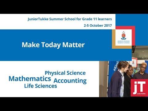 JuniorTukkie Summer School (Grade 11) 2-5 October 2017